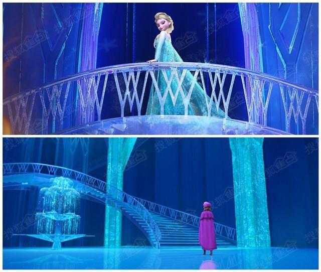 《冰雪奇缘》艾尔莎公主冰雕城堡