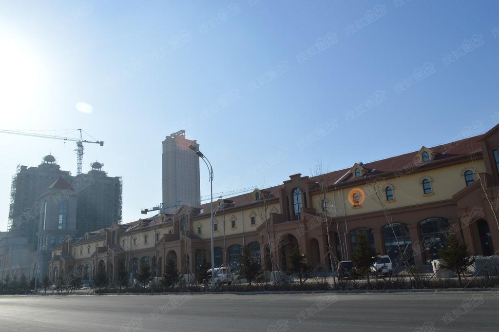 齐齐哈尔工程大学附近金域名都沿街商服门市房施工进度图 齐齐哈尔搜