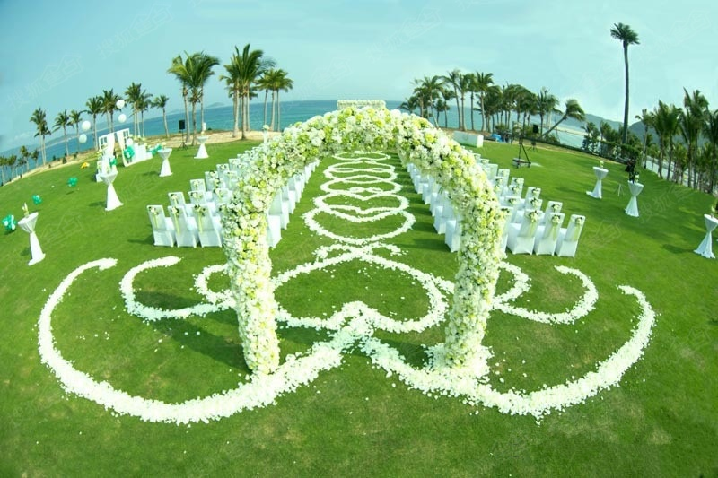 梦中的婚礼地:三亚图片
