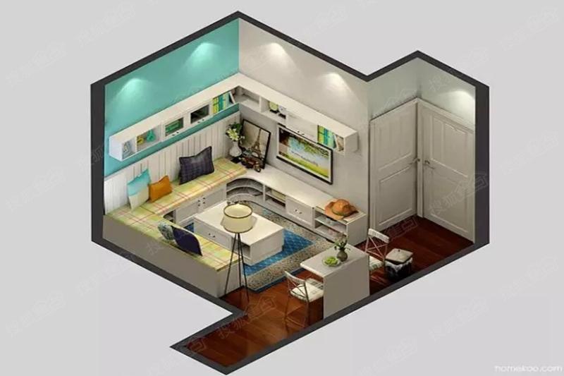 小户型一居室居然是这样做收纳的