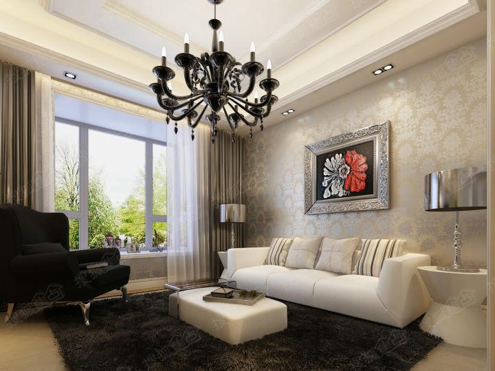 珠峰国际小三居装修效果图 高清图片
