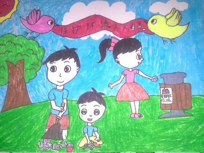 美丽的校园儿童画内容图片展示_美丽的校园儿童画图片