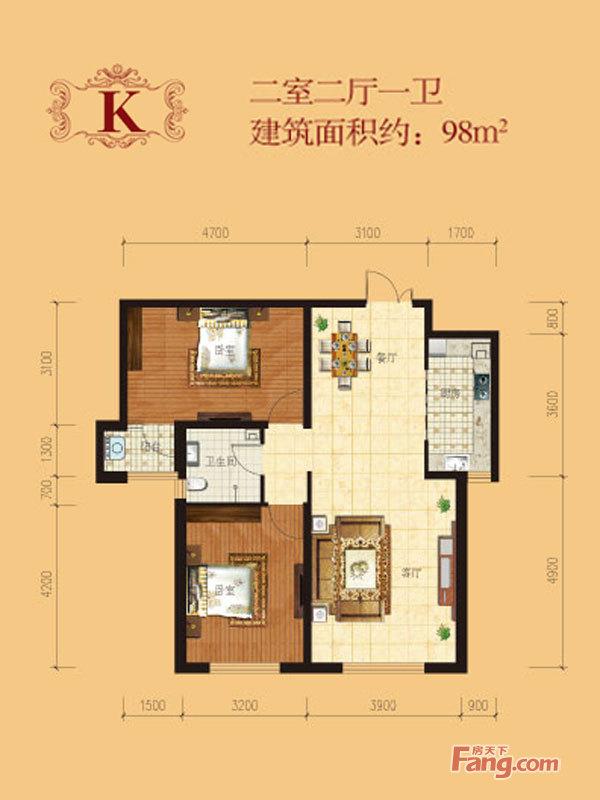 户型装修平面图:   家是避风港,明亮能给人带来鲜活的色彩! 一高清图片