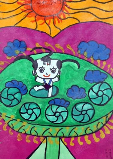 五四广场简笔画儿童画