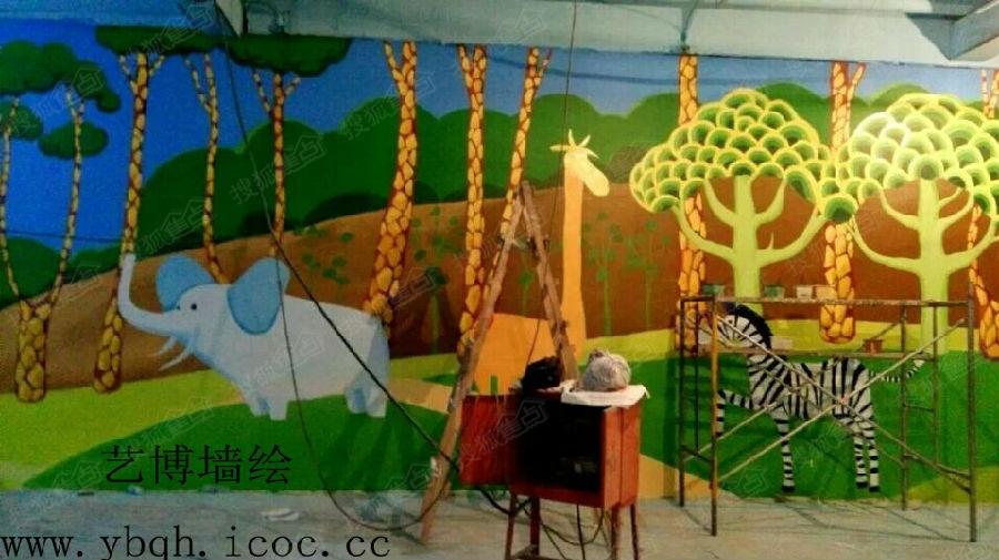 古建彩绘涂鸦墙绘手绘   承接室内外墙体彩绘,电视墙彩绘,饭店彩绘