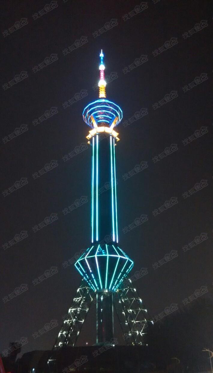 夜幕下的石家庄电视塔