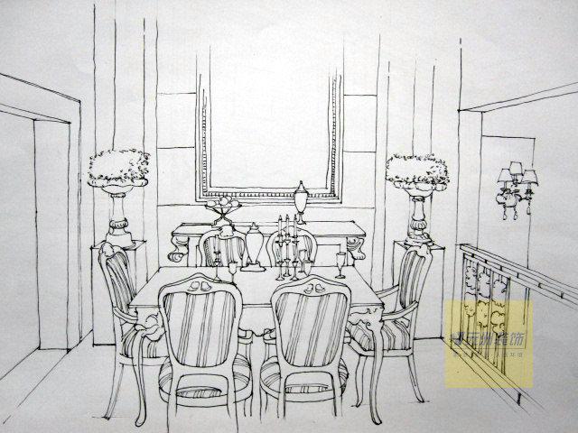 欧式组合家具手绘图
