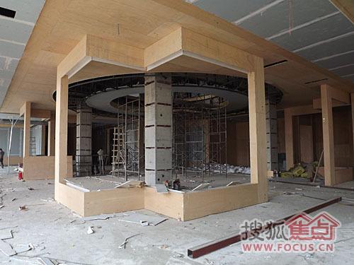 瀚唐新售楼处最新施工进度大放送,室内装修 园林和样板间都高清图片