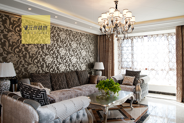 中山华府参考 140平米欧式新古典风格装修设计 低调的奢华