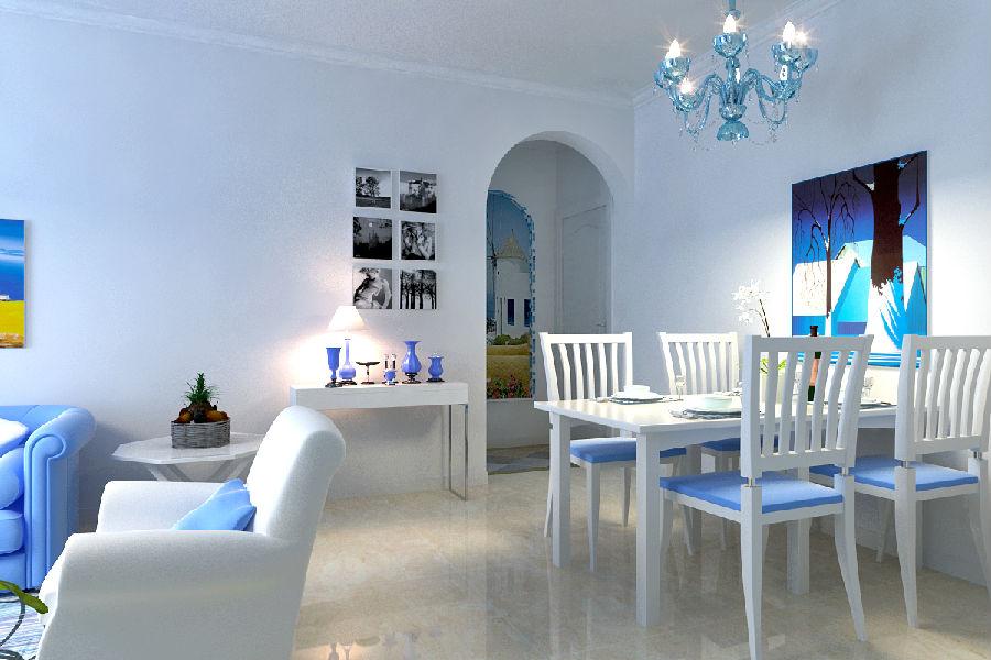 建投十号院装修参考~~地中海风格设计效果~~很美腻