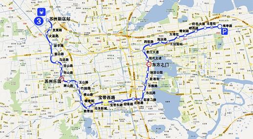 苏州轨交3号线最新线路图 计划今年8月开建图片