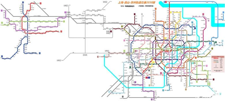2030年苏州地铁规划图