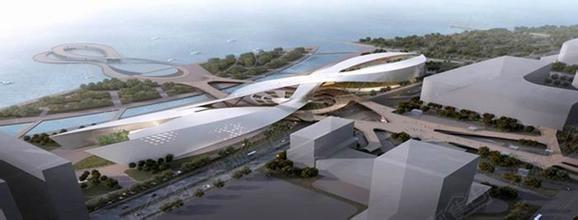 建筑事务所设计,采用优美的曲线勾勒出剧院的外形轮廓,设计理念新颖图片