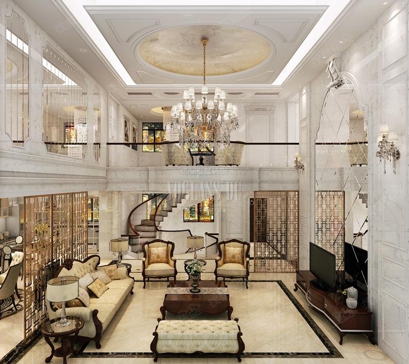 张恒老师独栋别墅现代简欧风格效果出图,欢迎咨询图片