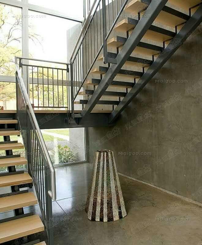 苏州惠诚钢结构阁楼楼梯,挑高复试楼隔层,铁艺扶手,护栏