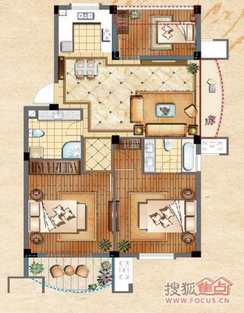奥林运河湾户型图-0室0厅0卫