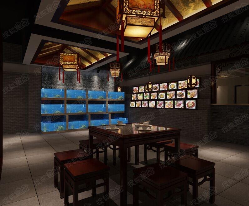 春秋装饰设计——中式面馆效果图图片
