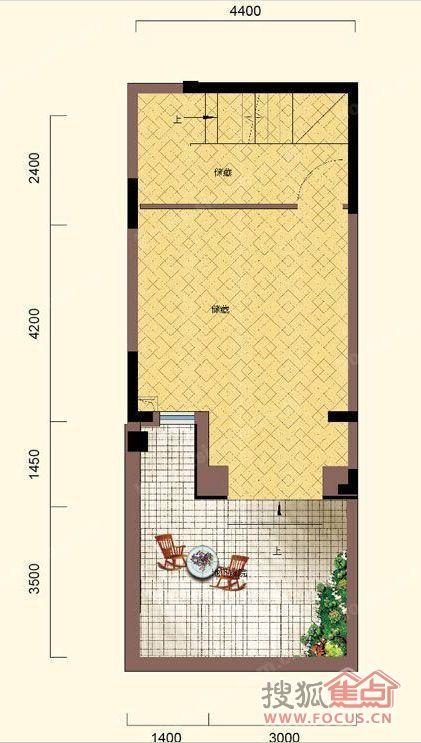 井窖的设计图-地下一层:   非制式地下空间,无论影音室、娱乐室、健身房还是就窖