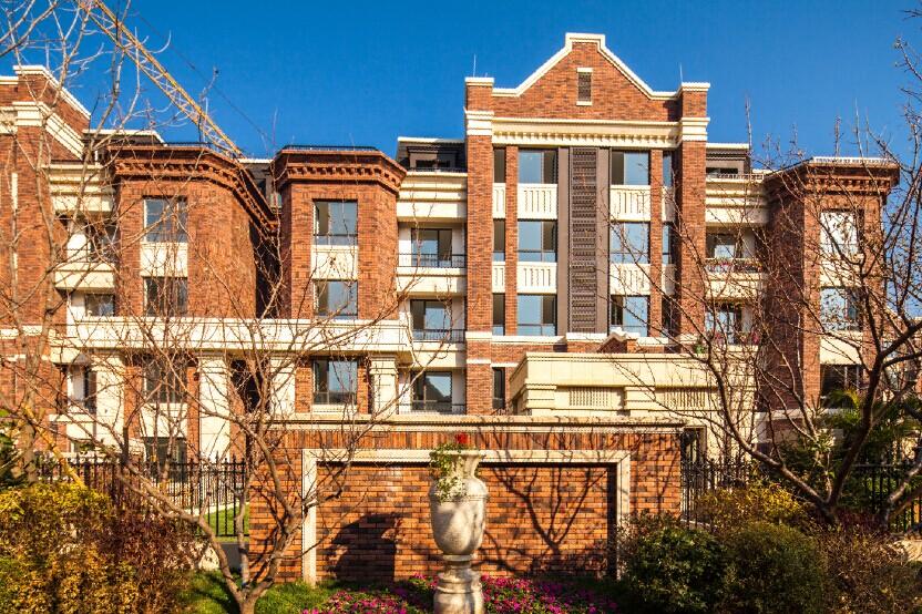红砖复古别墅洋房图片