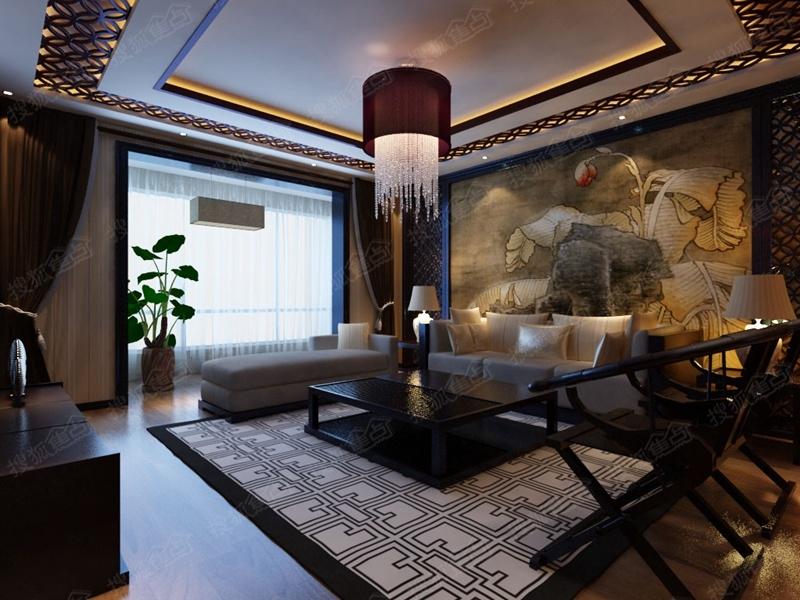 140平米中式装修案例高清图片