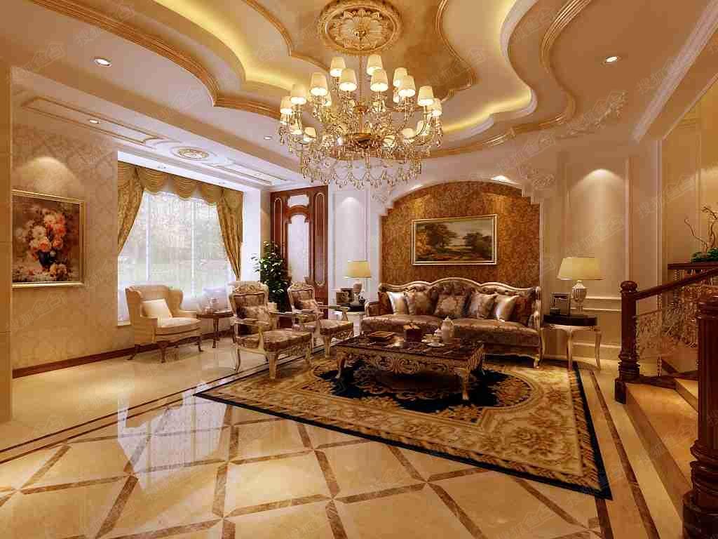 碧桂园300平欧式风格超豪华装修效果都是图!图片