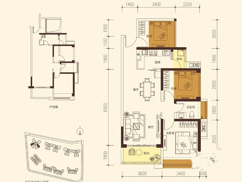 9座塔楼29层(含裙楼及架空层),01地块户型面积约为40-125平方米,其中