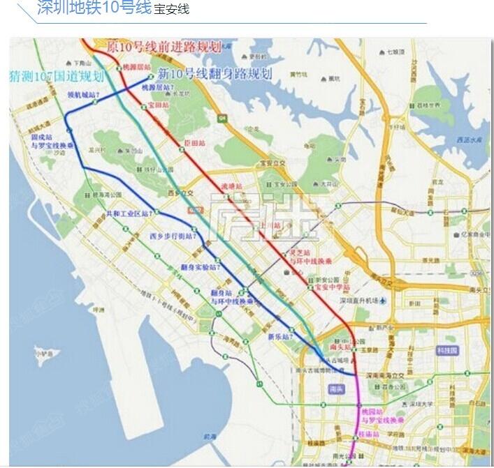 深圳地铁12号线规划中的六联村地铁站地址是不是在坪山广场 或者说图片