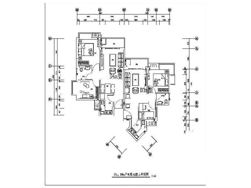 1/6 深康村公租房d3a,d4a户型平面图户型