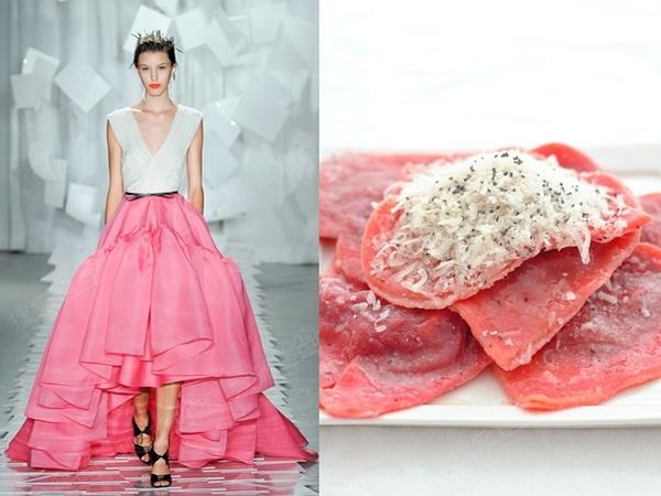 当大牌时装设计遇到美食 会有什么样的创意火花?