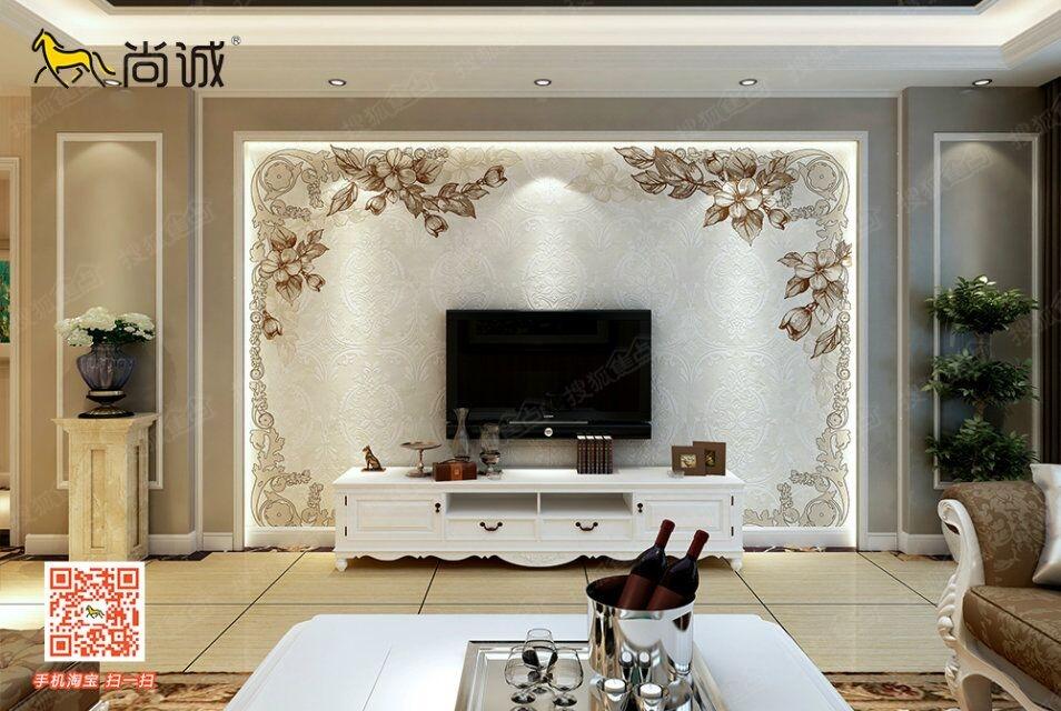 适合公寓的室内瓷砖电视背景墙图片