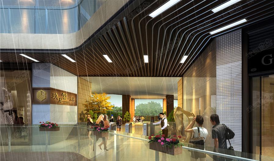360度风雨连廊是一道曲致的风景线,与户外景观和架空层景观浑然一体图片