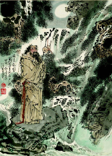 王维 山居秋暝 简笔画
