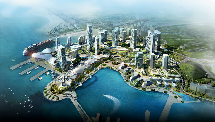 图片南中国最大的邮轮母港:蛇口太子湾邮轮母港鸟瞰图2