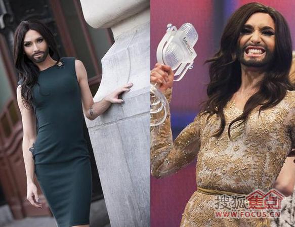 大胡子美女歌手歌唱大赛摘冠