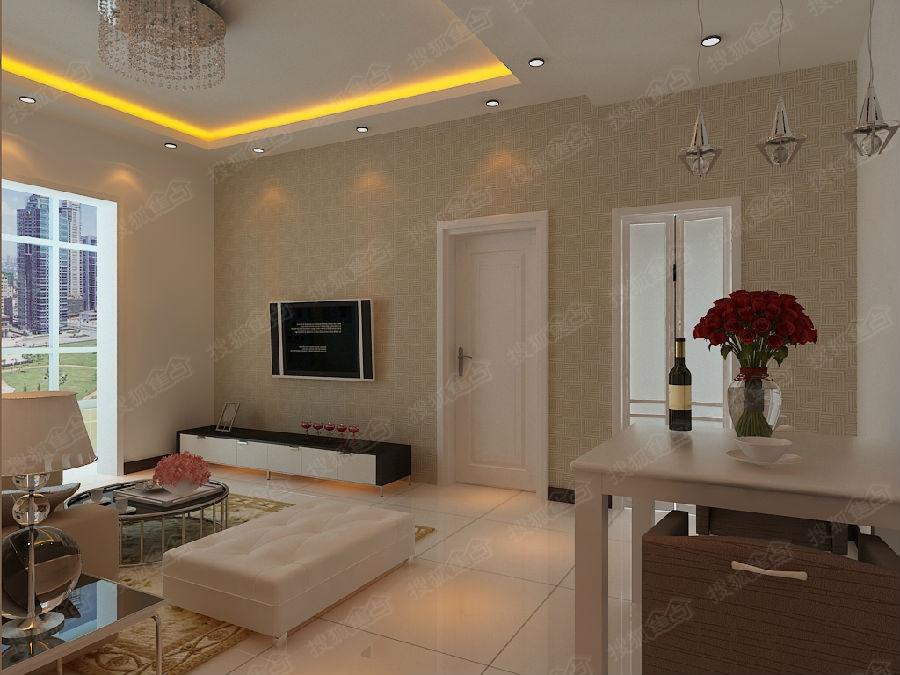 虹装饰和平时光88平米现代简欧风格装修效果图高清图片