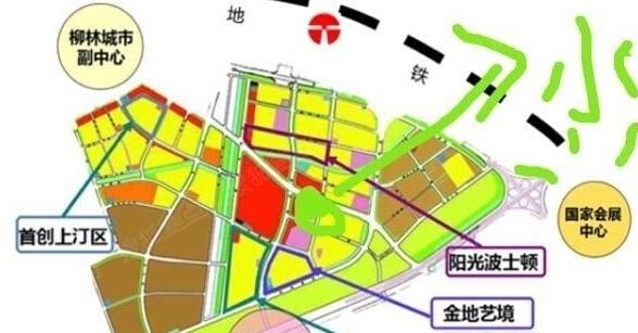 小学作业手绘广州地图