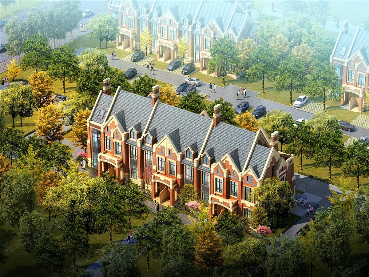 北大资源阅府二期联排别墅俯视图
