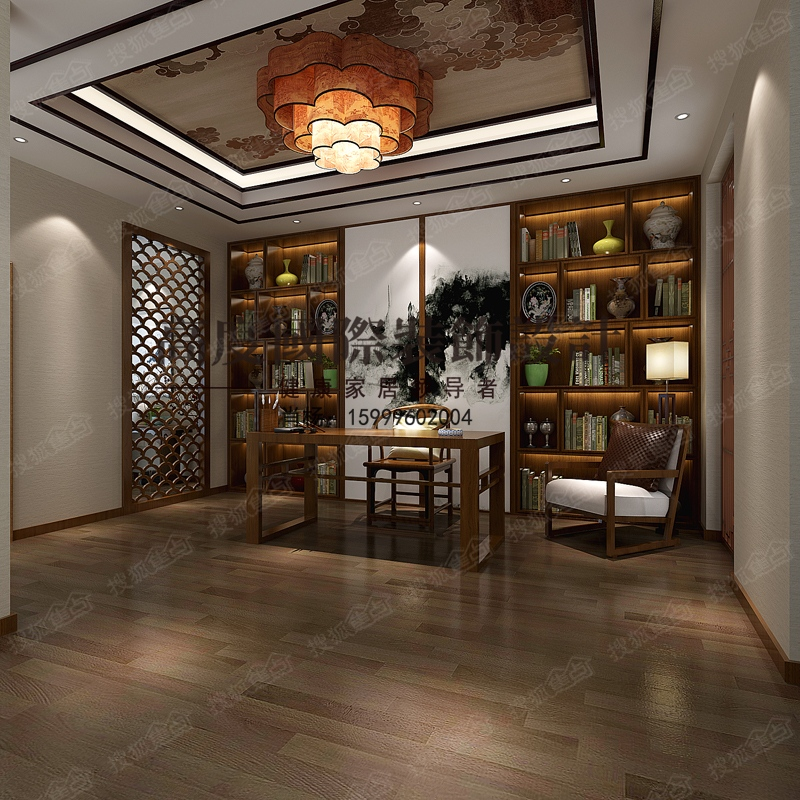完美的新中式别墅设计案例-金地长湖湾-天津搜狐焦点