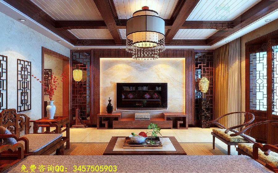 如果装修的业主不是特别喜爱传统的中式客厅装修风格,也可以适当的去