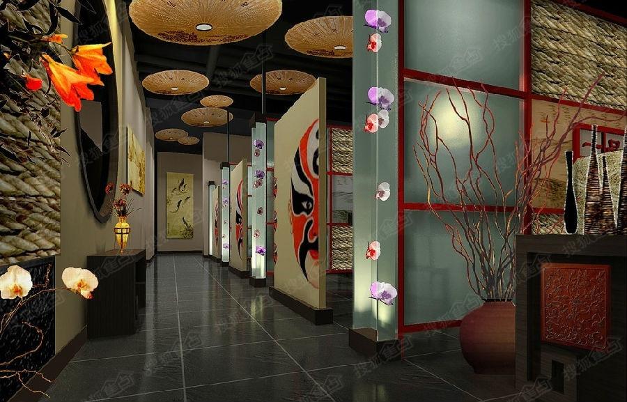 中式火锅店,吃的就是红红火火【天津亿点击工程装饰公司】图片