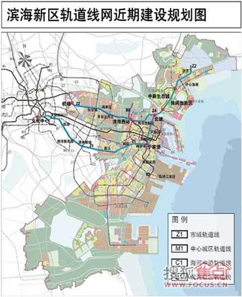汉沽城市空间结构