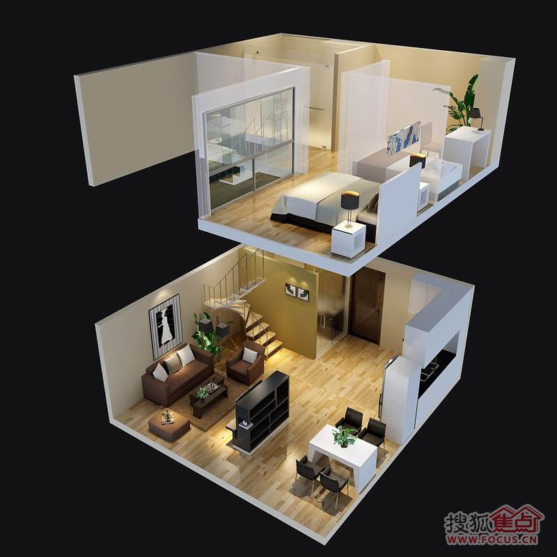 力神广场loft公寓效果图