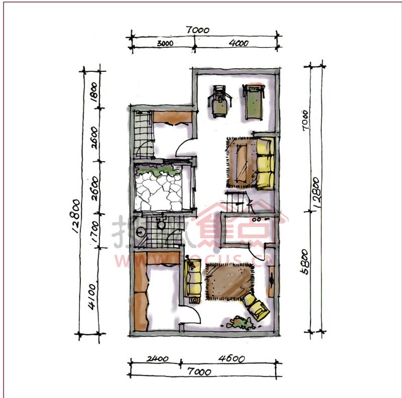 宝安江南城联排别墅214平米中户型地下一层户型图 -宝安江南城图片