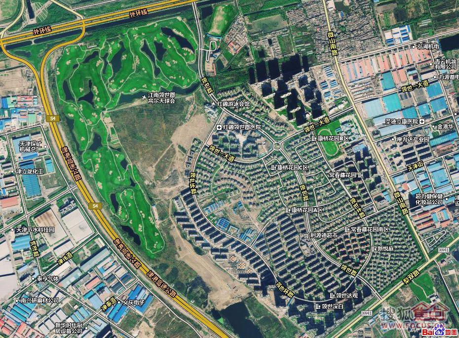 图:领世郡最新卫星地图(百度)