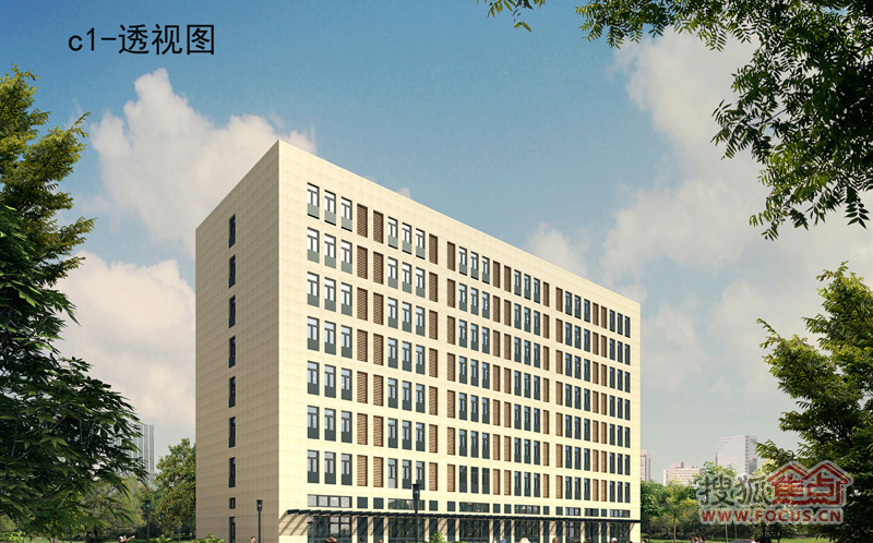 河北工业大学科技园天津园区c1效果图