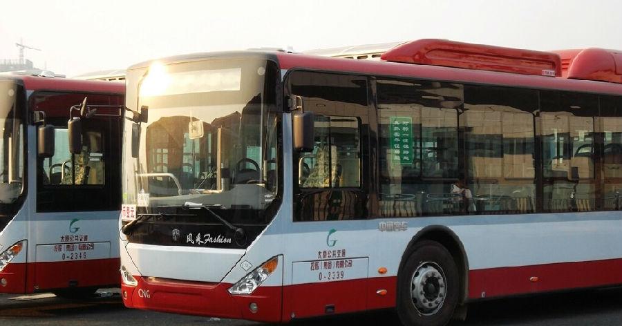 太原南站的新公交车