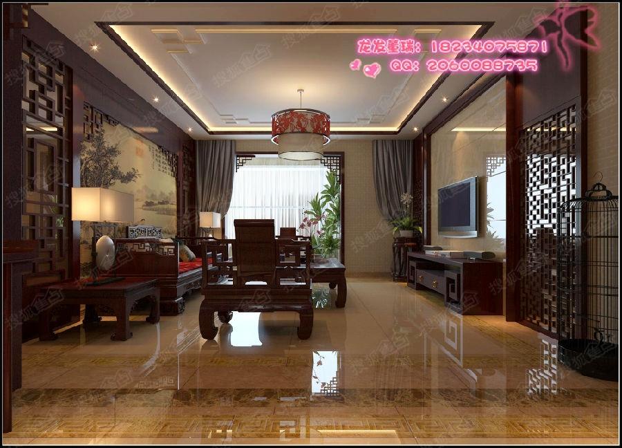 【龙发装饰】万景苑180平米新中式风格装修设计案例