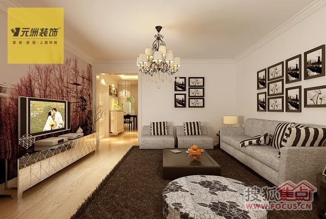 客厅:客厅很大,采光也很好.家里从一进门就是很温馨的木地高清图片