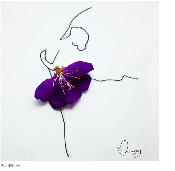 花朵扯成裙子~美爆了!图片