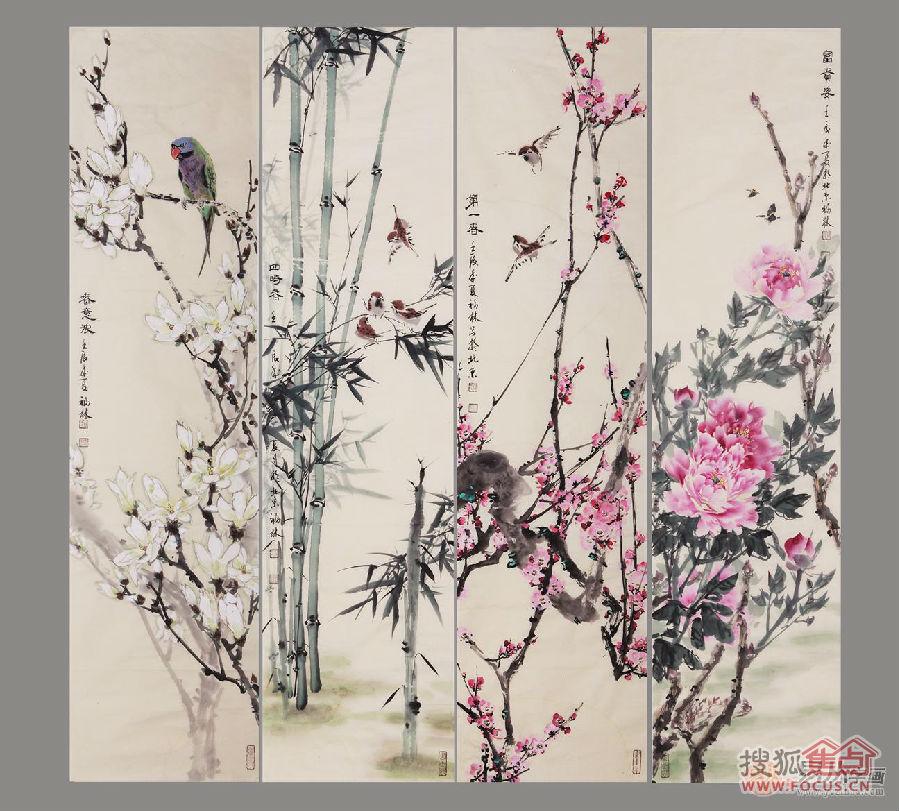 竹还是高雅,纯洁,虚心,有节的精神文化象征,桃花向来是爱情的代表物图片